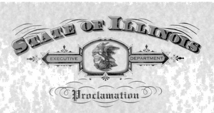 State of Illinois Executive Department Proclamation