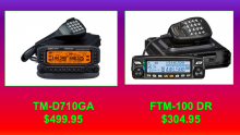 Kenwood TM-D710GA,Yaesu FTM-100DR