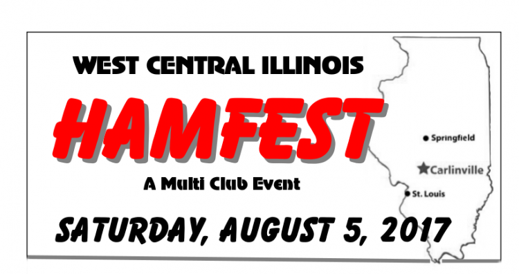 West Central Illinois Hamfest, A Multi Club Event, Saturday, August, 5, 2017