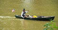 Participant in Abe's River Race