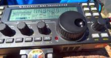 Radio used by Steve WG0AT at the Summit (SOTA)